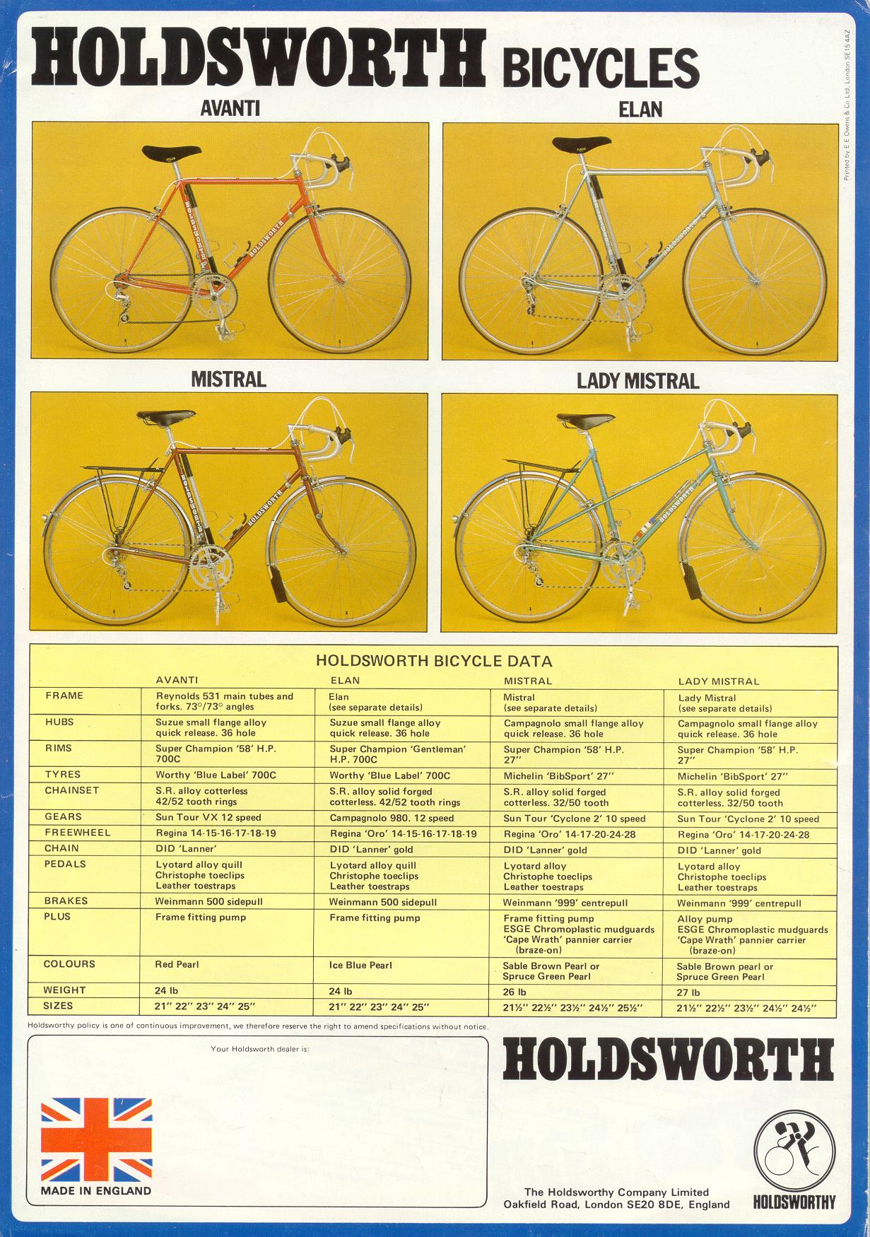 Sold Holdsworth Pro Classic Bike Or Split Retrobike